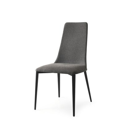 Etoile Upholstered Dining Chair Upholstery Color: Denver Cord, Leg Color: Matt Black