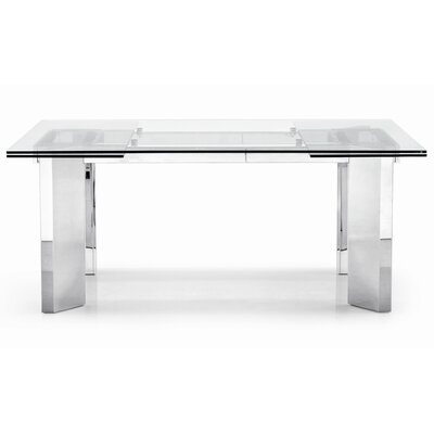 Tower Extendable Dining Table Finish: Transparent