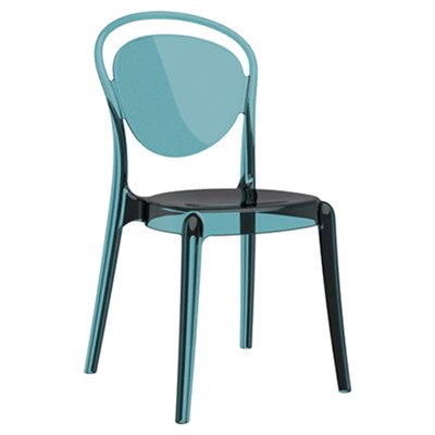 Parisienne Patio Dining Chair Finish: Transparent Aquamarine