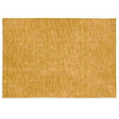 Very Flat Mustard Yellow Area Rug