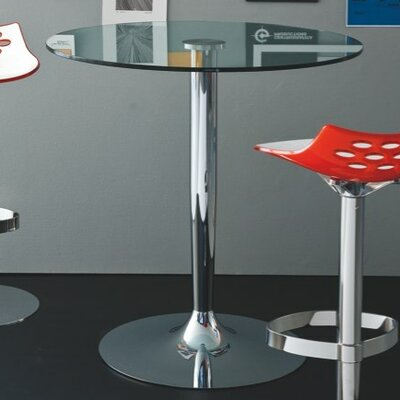 Planet Bar Height Dining Table Base Finish Chromed