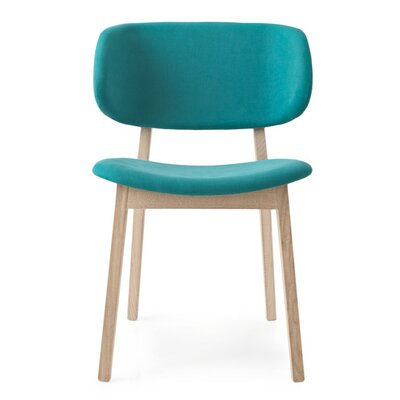 Claire Side Chair Upholstery: Oslo Aquamarine, Finish: Natural