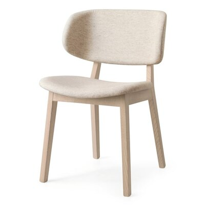 Claire Side Chair Finish: Natural, Upholstery: Denver Sand