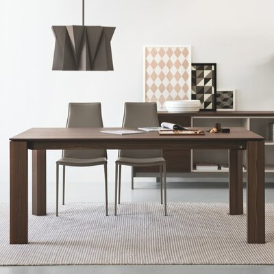 Omnia Extendable Dining Table Frame Finish Walnut