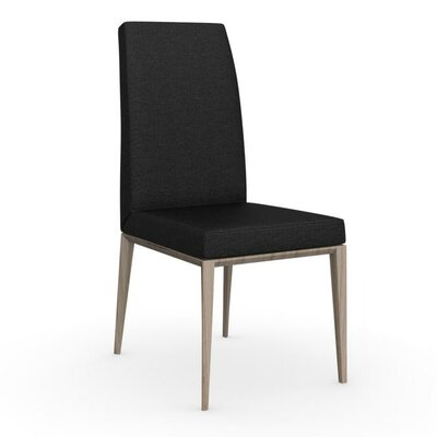 Bess High Backed Wooden Side Chair Upholstery Color: Sand, Color: Grey