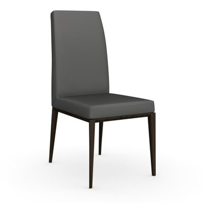 Bess High Backed Wooden Side Chair Upholstery: Smoke, Upholstery: Black