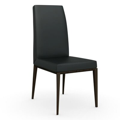 Bess High Backed Wooden Side Chair Upholstery: Black, Upholstery: Grey