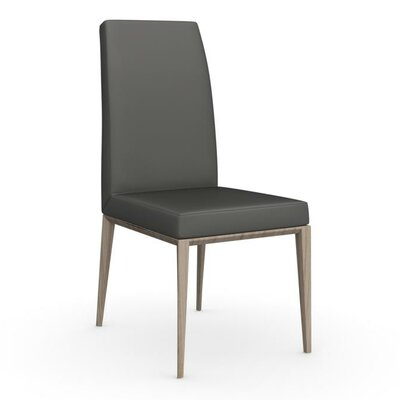 Bess High Backed Wooden Side Chair Upholstery: Smoke, Upholstery: Taupe