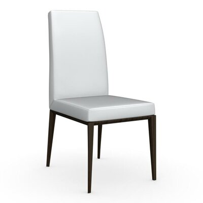 Bess High Backed Wooden Side Chair Upholstery: Optic White, Upholstery: Grey