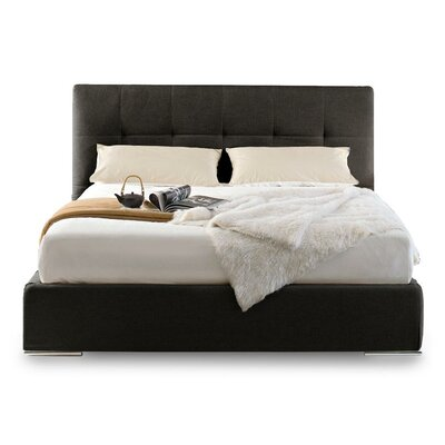 Swami Upholstered Platform Bed Size: King, Color: Cord