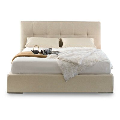 Swami Upholstered Platform Bed Size: King, Color: Sand