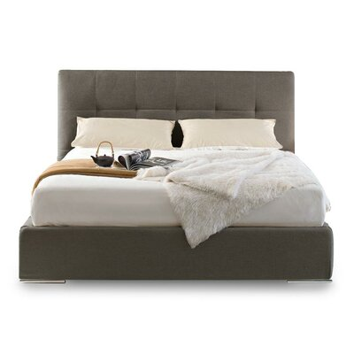 Swami Upholstered Platform Bed Size: King, Upholstery: Taupe