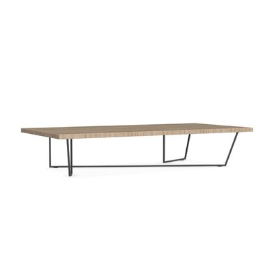Low-T Coffee Table Base Color: Matt Black, Top Color: Natural