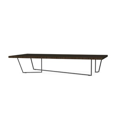 Low-T Coffee Table Base Finish: Matt Black, Top Finish: Smoke