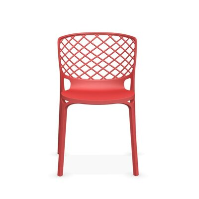 Gamera Stackable Nylon Chair Finish: Red