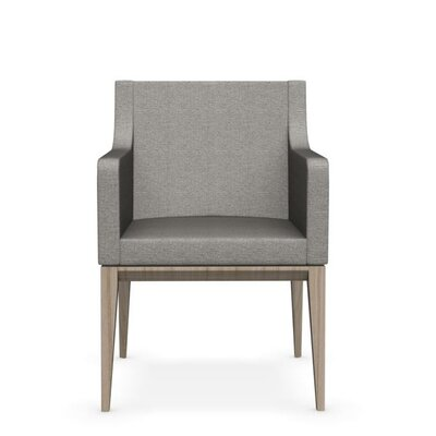Bess Armchair Upholstered Wooden Arm Chair Upholstery: Cord, Finish: Natural