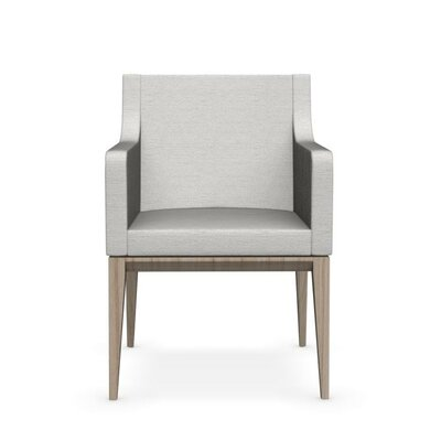 Bess Armchair Upholstered Wooden Arm Chair Finish: Natural, Upholstery: Sand