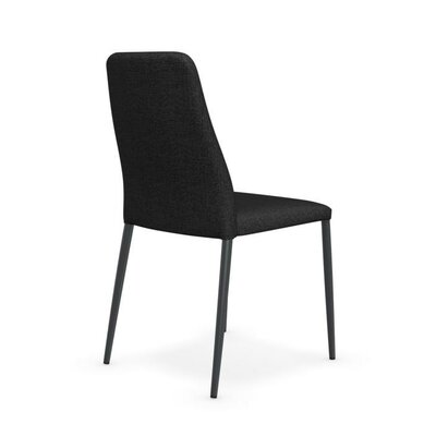 Club Upholstered and Covered Metal Chair Finish: Matt Taupe, Upholstery: Taupe