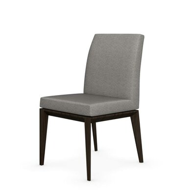 Bess Low Wooden Chair Finish: Smoke, Upholstery: Cord