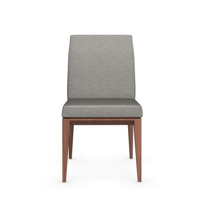 Bess Low Wooden Chair Finish: Walnut, Upholstery: Cord