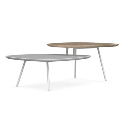 Tweet Coffee Table with Double Top Top Finish: Natural / Matt Optic White