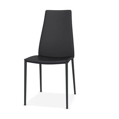 Aida Metal Genuine Leather Upholstered Dining Chair Upholstery: Grey