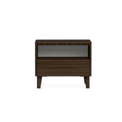Boston 1 Drawer Nightstand Color: Smoke, Leg Finish: Polished Aluminium, Finish: Smoke