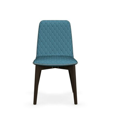 Sami Upholstered Wooden Chair Finish: Smoke, Upholstery: Aquamarine