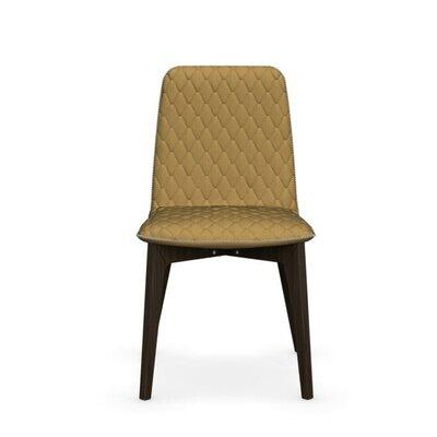 Sami Upholstered Wooden Chair Finish: Smoke, Upholstery: Mustard Yellow