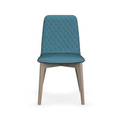 Sami Upholstered Wooden Chair Upholstery: Aquamarine, Finish: Natural