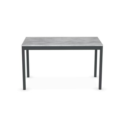 Snap Extending Console Table Frame Finish: Matt Taupe, Top Finish: Deco Nougat