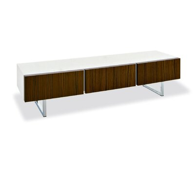 Cheap Calligaris Seattle Low Cabinet with 3 Drawers Base: Metal Stained Chrome, Doors: Glossy White Lacquer, Frame: Glossy White Lacquer (GN1283_4045599_4045602_4045605)