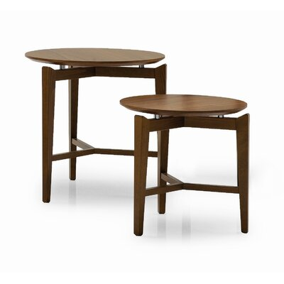 Symbo Side Table Table Height: 19.75, Color: Walnut