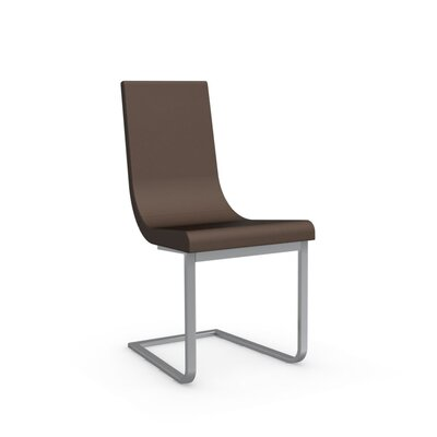 Cruiser Cantilever Chair in Fabric - Denver Cord Color: Satin Finished Steel