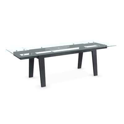 Maestro Extendable Dining Table Base Finish Graphite