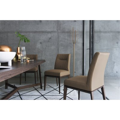 Tosca Chair Frame Color: Walnut, Upholstery Color: Coffee