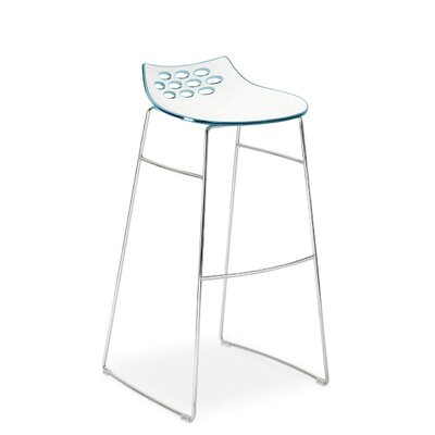 Jam 1034 Stool Finish: White/Glossy Sky Blue
