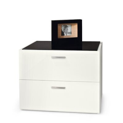 Jersey 2 Drawer Nightstand Finish: Frosted Black