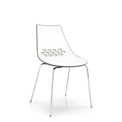 Jam 1059 Chair Leg Finish: Chromed, Finish: White/Transparent Red