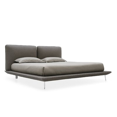 Taylor Upholstered Platform Bed Size: Queen, Color: Taupe