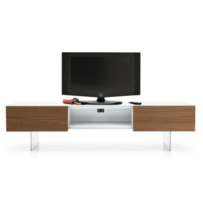 Sipario 72.5 TV Stand Frame Color: Matt Optic White, Drawer Color: Gray