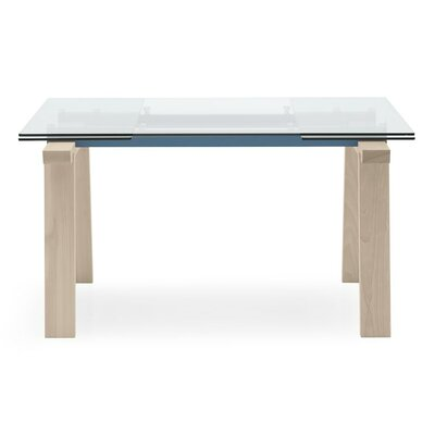 Levante extending and non extending table Base Finish Matt Sky Blue Bleached Beech