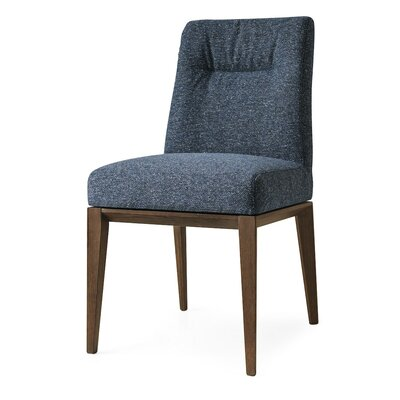 Tosca Chair Frame Color: Walnut, Upholstery Color: Midnight Blue