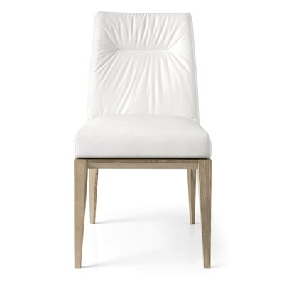 Tosca Chair Finish: Graphite, Upholstery: Leather - Optic White