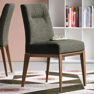Tosca Chair Upholstery Color: Grey, Frame Color: Natural Oak