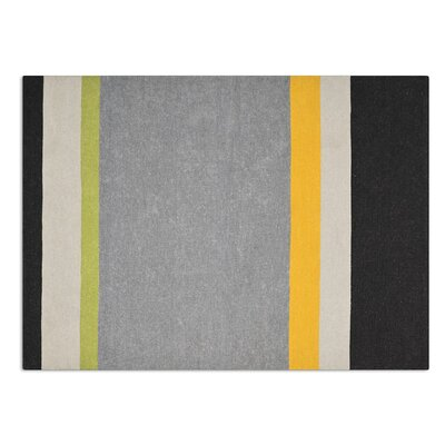 Follower hand-woven Gray area Rug