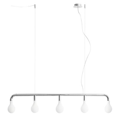 Pom Pom Suspension Lamp Finish: Chromed