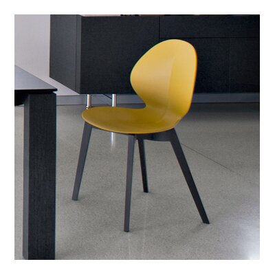 Basil W Chair Finish: Graphite, Seat Color: Matt Mustard Yellow