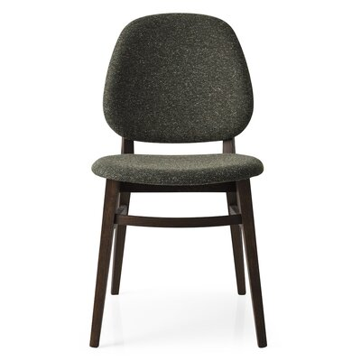 Colette Chair Finish: Smoke, Upholstery: Forest Green