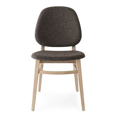 Colette Chair Upholstery: Coffee, Finish: Natural